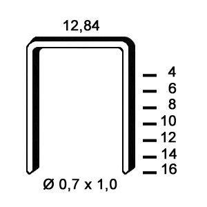 Agrafe A aluminiu - dimensiuni diverse