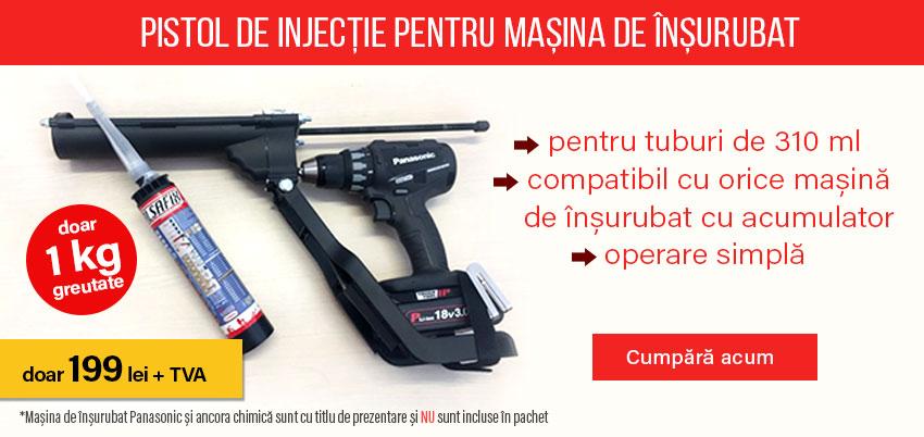 Pistol de injecție pentru mașina de înșurubat