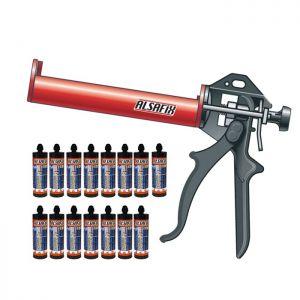 Promotie ancore chimice Alsafix VI100 PRO 15 tuburi de 300 ml + 1 pistol manual de injectie