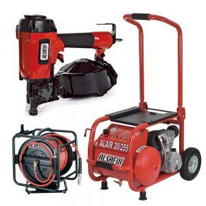 Pachet compresor + furtun + mașină pneumatică de bătut cuie Alsafix C21/50 P1
